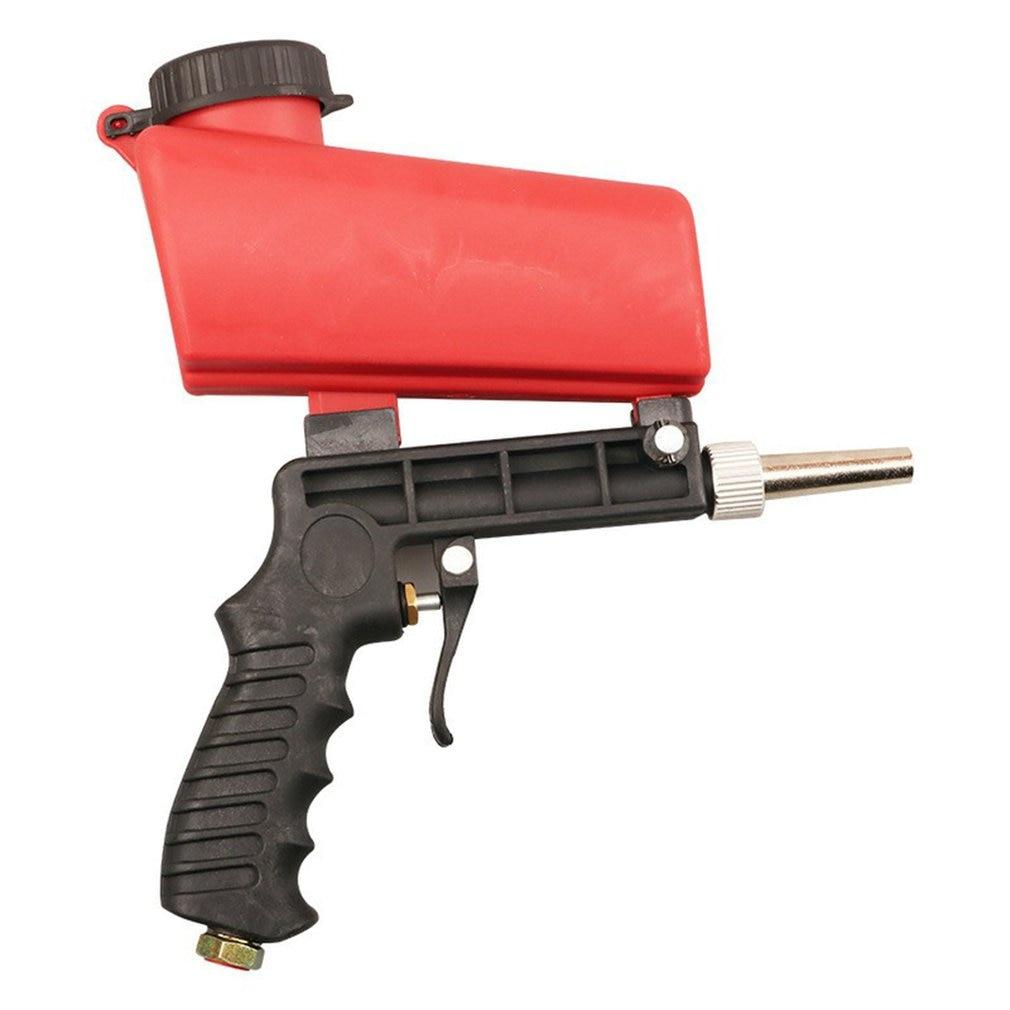 Portable Pneumatic Rust Blasting Small Sanding Gravity Sandblasting Gun Handheld Mini Spray Gun Lightweight Aluminium Gravity
