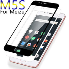 Protective Glass Case For Meizu Maisie m5s Tempered Glas On Meizy Maizu m5 m 5s 5 s Screen Full Cover Phone Cases 32gb Films 9H(China)