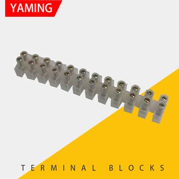 YM012 złącze przewodu 10A szyna DIN 12 skynka zaciskowa 24 otwory śrubowe uniwersalne szybkozłącze 0 5-2 5 kwadrat tanie i dobre opinie SBLSBR Splice White