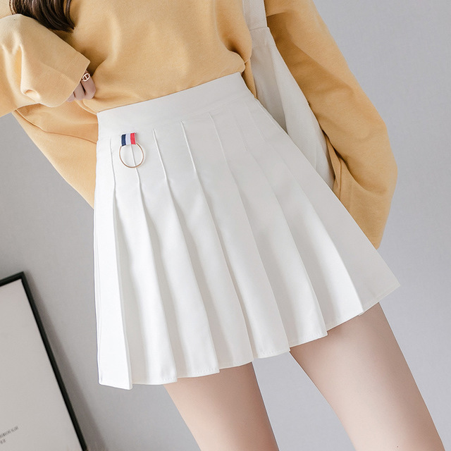 XS-3XL Women Skirt Preppy Style High Waist Chic Stitching Skirts Summer Student Pleated Skirt Women Cute Sweet Girls Dance Skirt 4