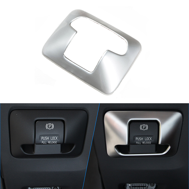 Car design Interior Electronics Handbrake Handbrake Button Keyboard Trim Sticker For Volvo XC60 XC70 V60 S60 S80 2009-2015