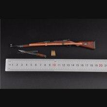Modèle d'arme allemande de la seconde guerre mondiale, à échelle 1/6, fusil 98k + modèle de baïonnette, jouets pour figurines de 12 pouces, accessoire de corps, cadeaux, Colle