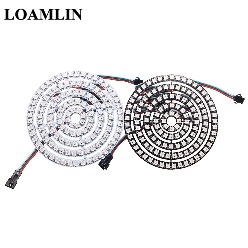 8/16/24/35/45 Leds WS2812B Pixel Ring Addressable Led Modules DC5V WS2812 RGB full color Round LED Circle New