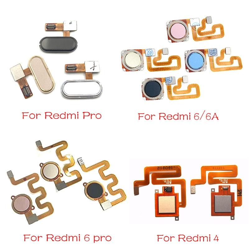 New For Xiaomi Redmi 6A 6 Pro / Redmi 4 Fingerprint Reader Recognition Sensor Touch ID Flex Cable Replacement Parts
