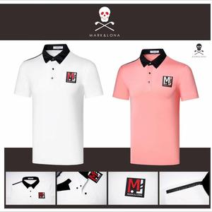 2020 nowy Mark & Lona Golf męska z krótkim rękawem oddychająca szybkoschnąca moda sportowa z krótkim rękawem T-shirt ubrania do gry w golfa darmowa wysyłka