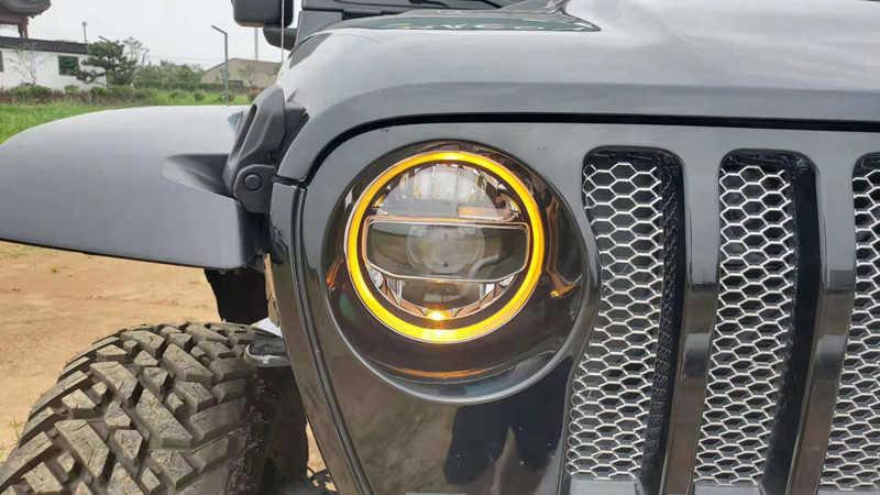 JL Fender Signal KUQIQI JL LED Fog Light Fog Lamps for Jeep Wrangler JL 2018 2019 with Bracket White Daytime Running Light