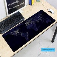 LaumansWorld Map Lock Edge Mouse Pad Large Pad Laptop Mouse Notbook
