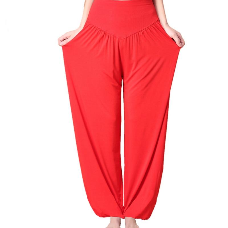 Women's Comfy Harem Loose Long Pants Belly Dance Boho Wide Trousers