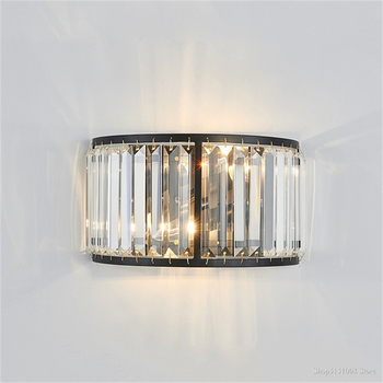 Luxurious Wall Sconce Led for Home Living Room Decoration Long Crystal Modern Bar Light Bedroom Lamp Led Wall Light Fixtures E14