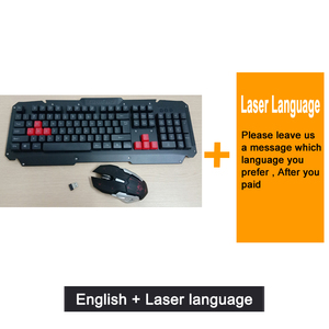 Image 5 - 2.4G kablosuz klavye fare seti bilgisayar masaüstü dizüstü rusça arapça tay İbranice İspanyolca fransızca İtalyanca kore alman klavye