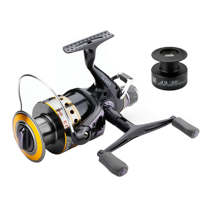 Fishing Reel Carp Spinning Reel Carbon Front and Rear Drags 18KG Max Drag 9+1 BB Metal Spool Sea Boat Reel Double Knobs YL-48