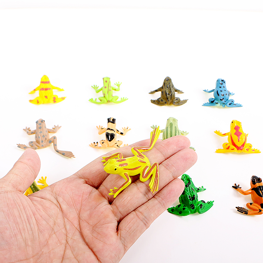 12pcs Simulation Frog Insect Reptile animal model action figures mini plastic models