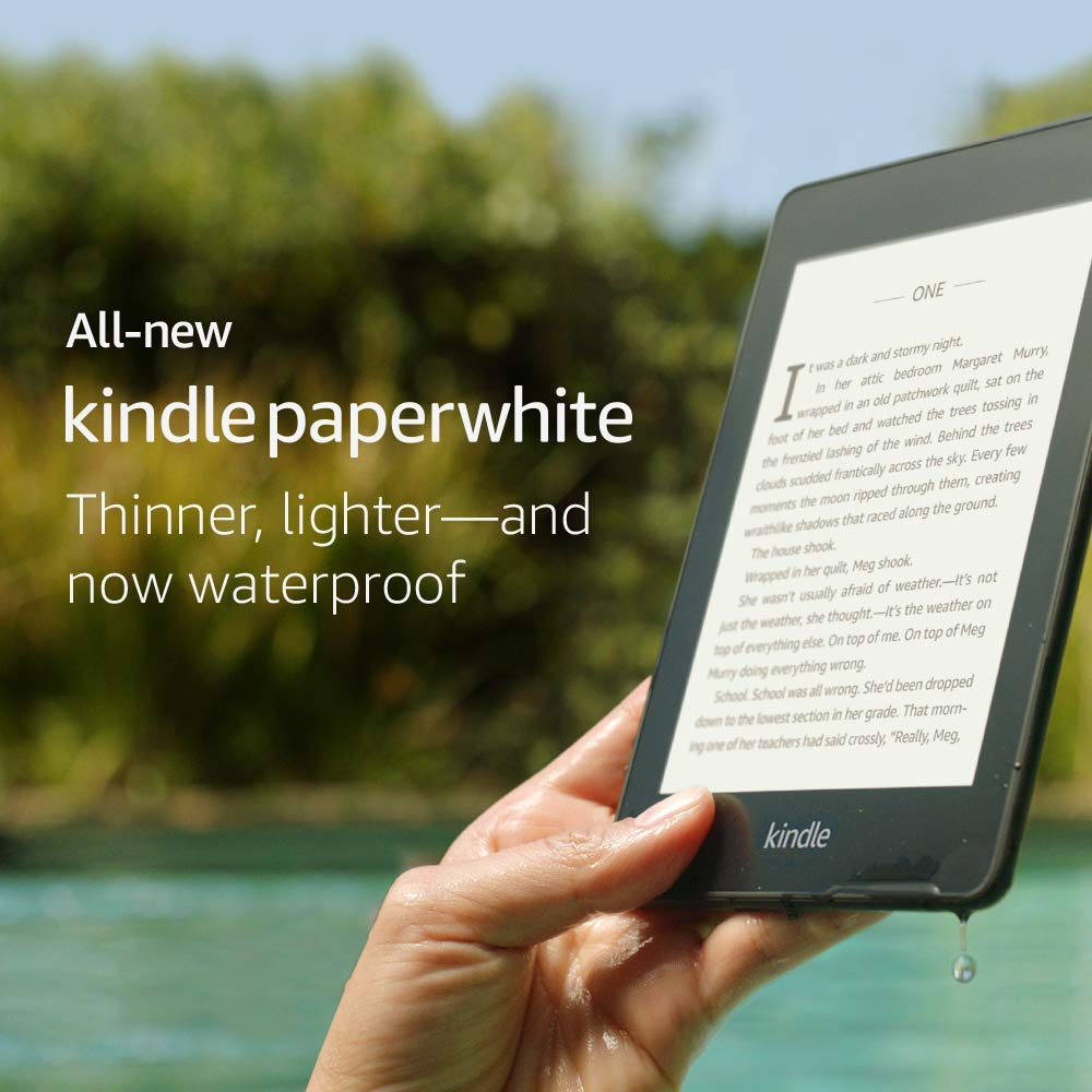 Электронная книга Kindle Paperwhite, водонепроницаемый, беспроводная, электронные чернила