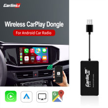 Carlinkit-llave electrónica de Apple Carplay inalámbrica para reproductor de navegador, conexión USB inteligente con Android Auto Mrrorlink, CarPlay