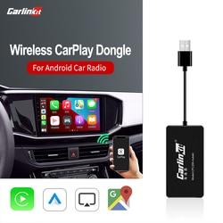 Carlinkit Carplay Wireless Apple CarPlay Dongle for Android Navigation Player USB Smart LinkCarplay with Android Auto Mrrorlink