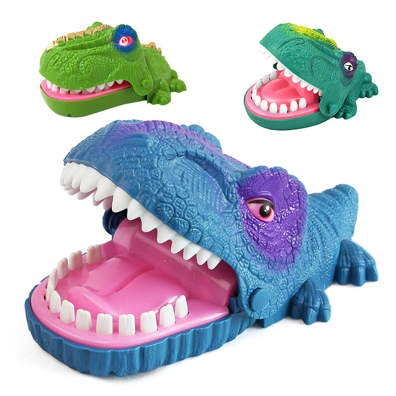 Funny Board Game Toys Crocodile Mouth Dentist Bite Finger Toy Large Crocodile Pulling Teeth Bar Games Toys Kids For Children 1