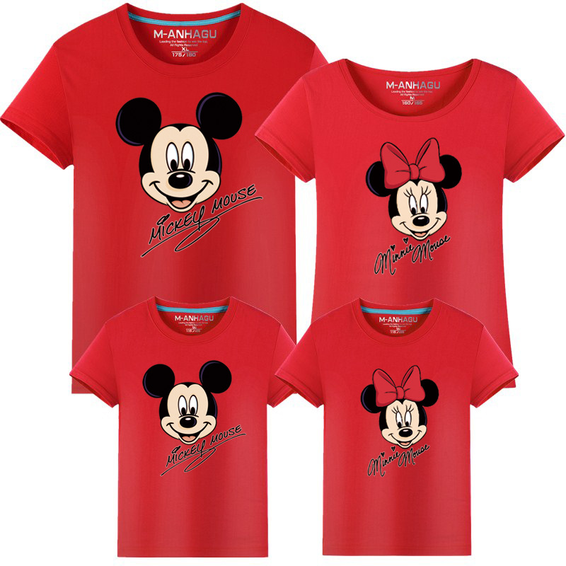 Family Clothes Fashion Mother Father Daughter Son Family Look Matching T shirt Minnie Mickey Mouse Shirts Family Summer Outfits