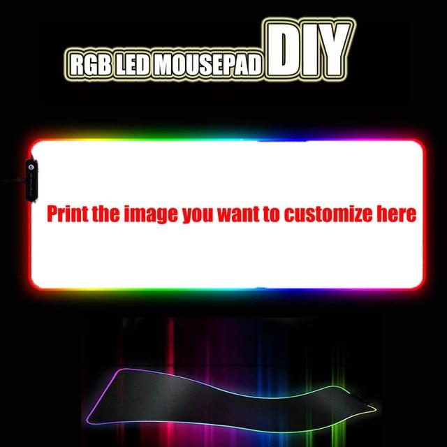 Пользовательский большой игровой коврик для мыши со светодиодной RGB подсветкой, Настольный коврик для ноутбука, резиновый нескользящий коврик для геймеров, CSGO tank, world speed control, dota2