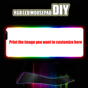 Image 1 - Custom DIY mouse pad RGB LED large gaming mousepad laptop desk mat rubber slip for gamers CSGO tank world speed control dota2