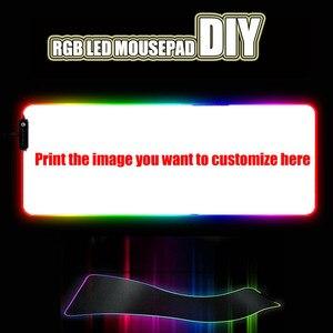 Image 1 - مخصص لتقوم بها بنفسك لوحة الماوس RGB LED لوحة ماوس للألعاب مكتب للحاسوب شخصي حصيرة المطاط زلة للاعبين CSGO خزان العالم سرعة التحكم dota2