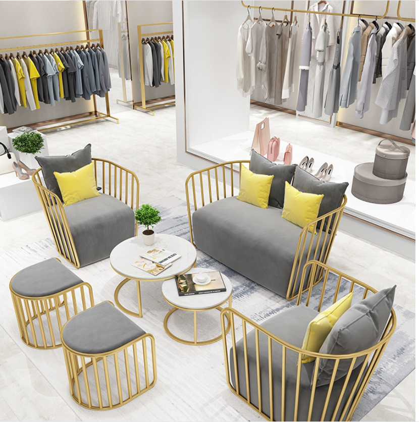 Scandinavian Clothing Store Sofa Shop With Simple And Modern Korean Manicure Shop Reception Beauty Salon Small Sofa Net Red