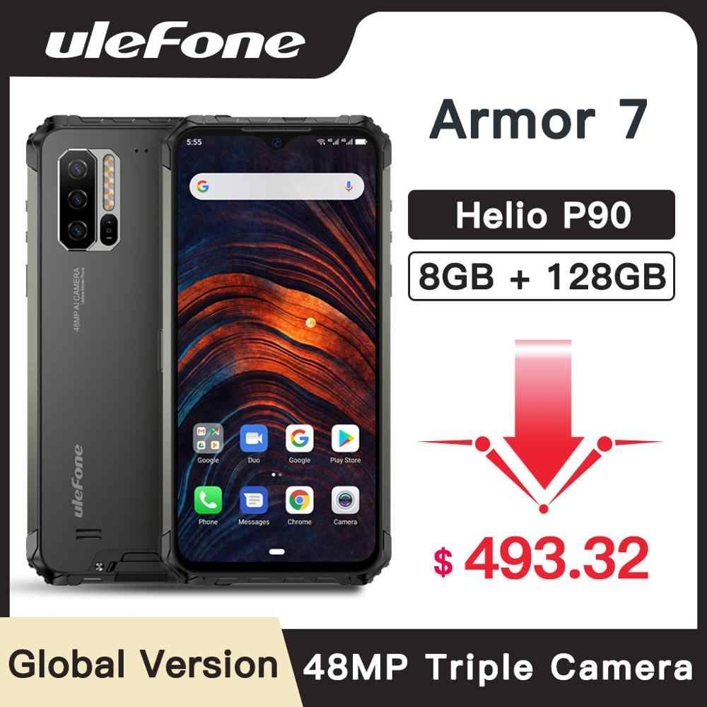 Ulefone Armor 7 IP68 Rugged Smartphone Android 9.0 NFC Helio P90 Octa Core 6.3'' 8GB+128GB 48MP 4G 5500mAh Mobile Phone Android