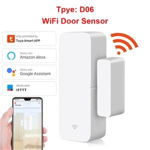 Tuya Smart Life WiFi Door Sensor Door Open / Closed Detectors home security Wifi Home Alarm With Alexa Google Home Tuya APP