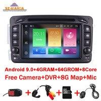 4GB RAM 64GB ROM 8Core Android 10.0car DVD player For Mercedes Benz CLK W209 W203 W463 W208 Wifi 3G GPS Bluetooth Radio gps