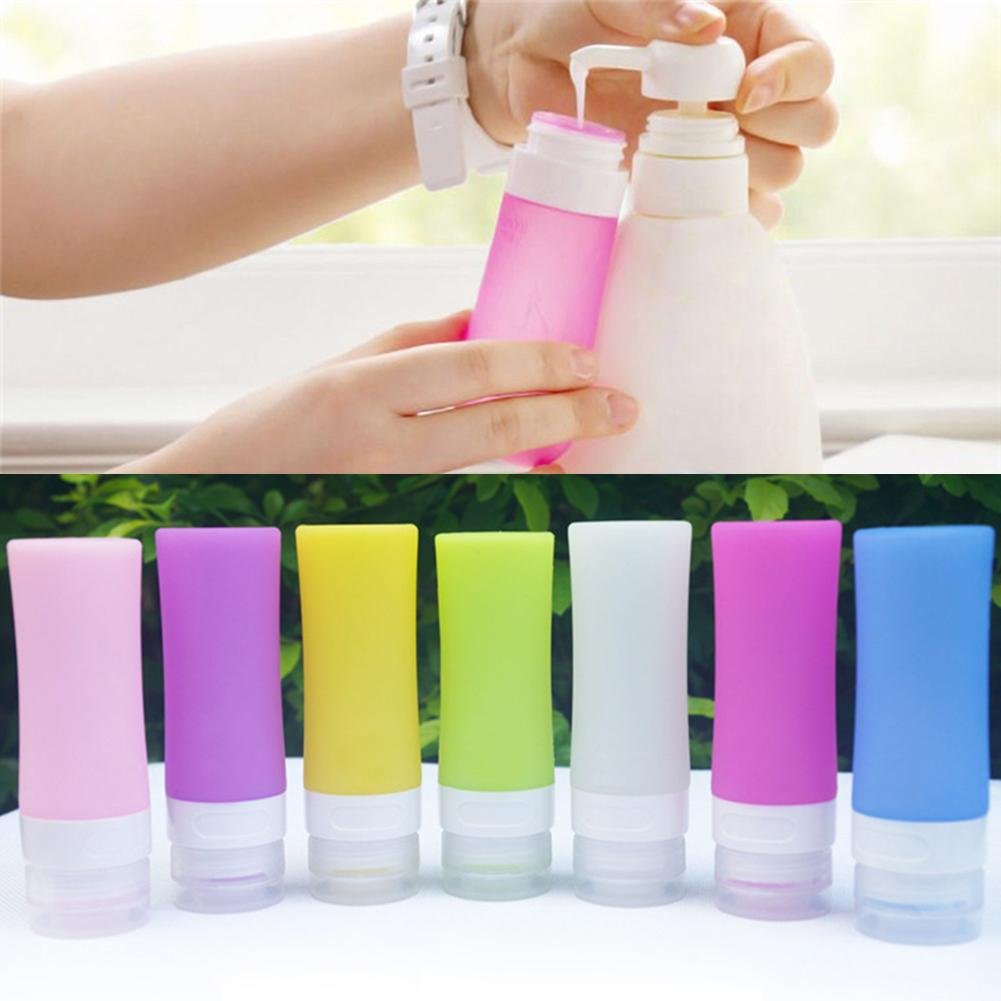 Portable Refillable Silicone Bottle Traveler Lotion Bath Shampoo Storage Containers