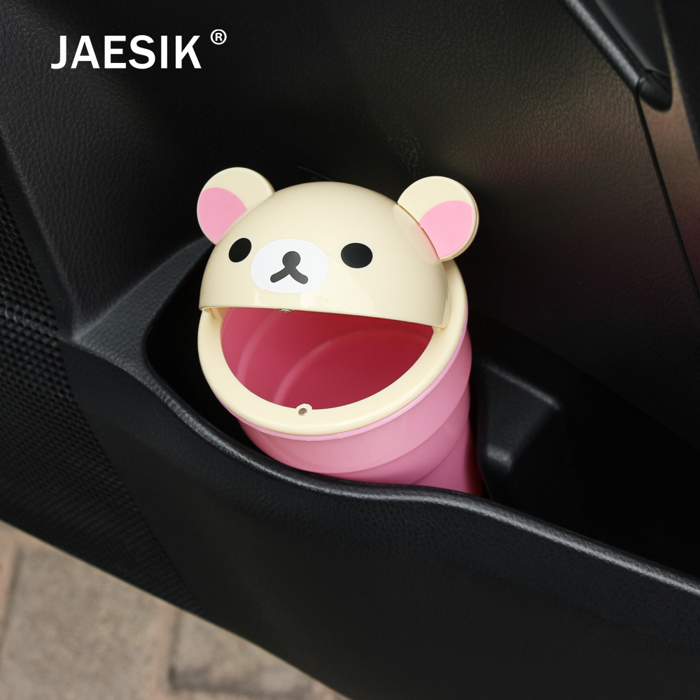JAESIK Car Trash Garbage Can Autobiles Trash Dust Case Holder Bin Box Car-styling Can Rubbish Box Dust Case Holder Car Trash