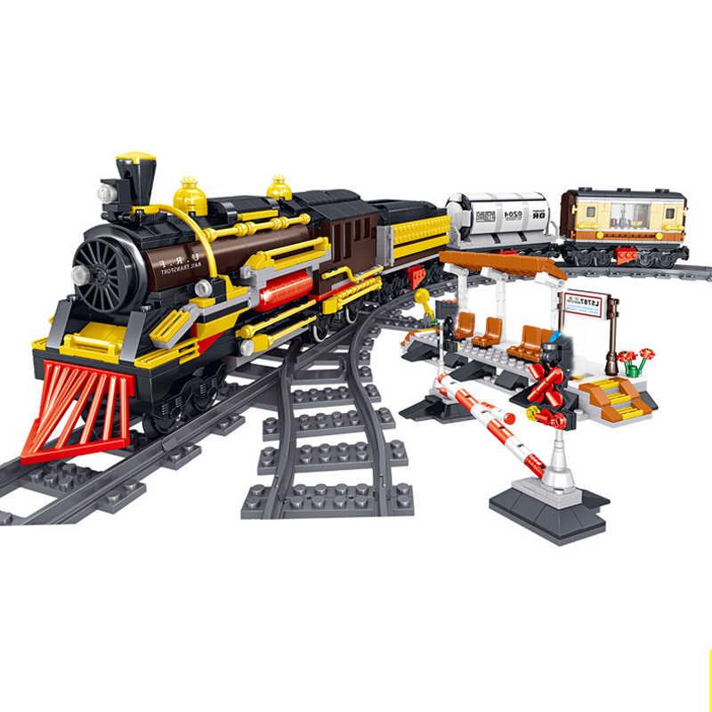 Teknik Baru Series Emerald Kereta Malam Model Kit Kompatibel Legoinglys Blok Bangunan DIY Batu Bata Mainan untuk Anak-anak Hadiah