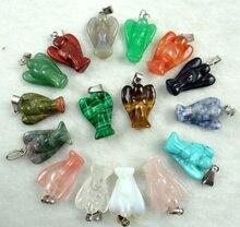 Pendentifs dange sculptés en pierre naturelle, Quartz, opale, turquoise, accessoires pour la fabrication de colliers, bijoux à bricoler soi même, A13