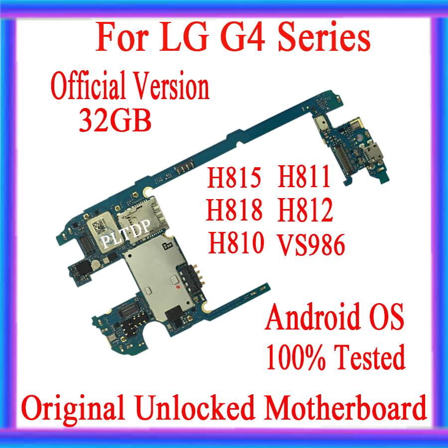 32GB Disassemble For <font><b>LG</b></font> G4 <font><b>Motherboard</b></font> <font><b>H815</b></font> H811 H818 H810 H812 VS986 Factory Unlocked Mainboard For <font><b>LG</b></font> G4 Logic Board Full chip image