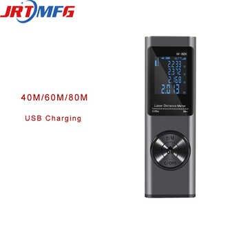 JRTMFG Neue Laser-entfernungsmesser 40m/60m/80m Roulette Laser Meter Für Abstand Messung Digital Band messen W-40X