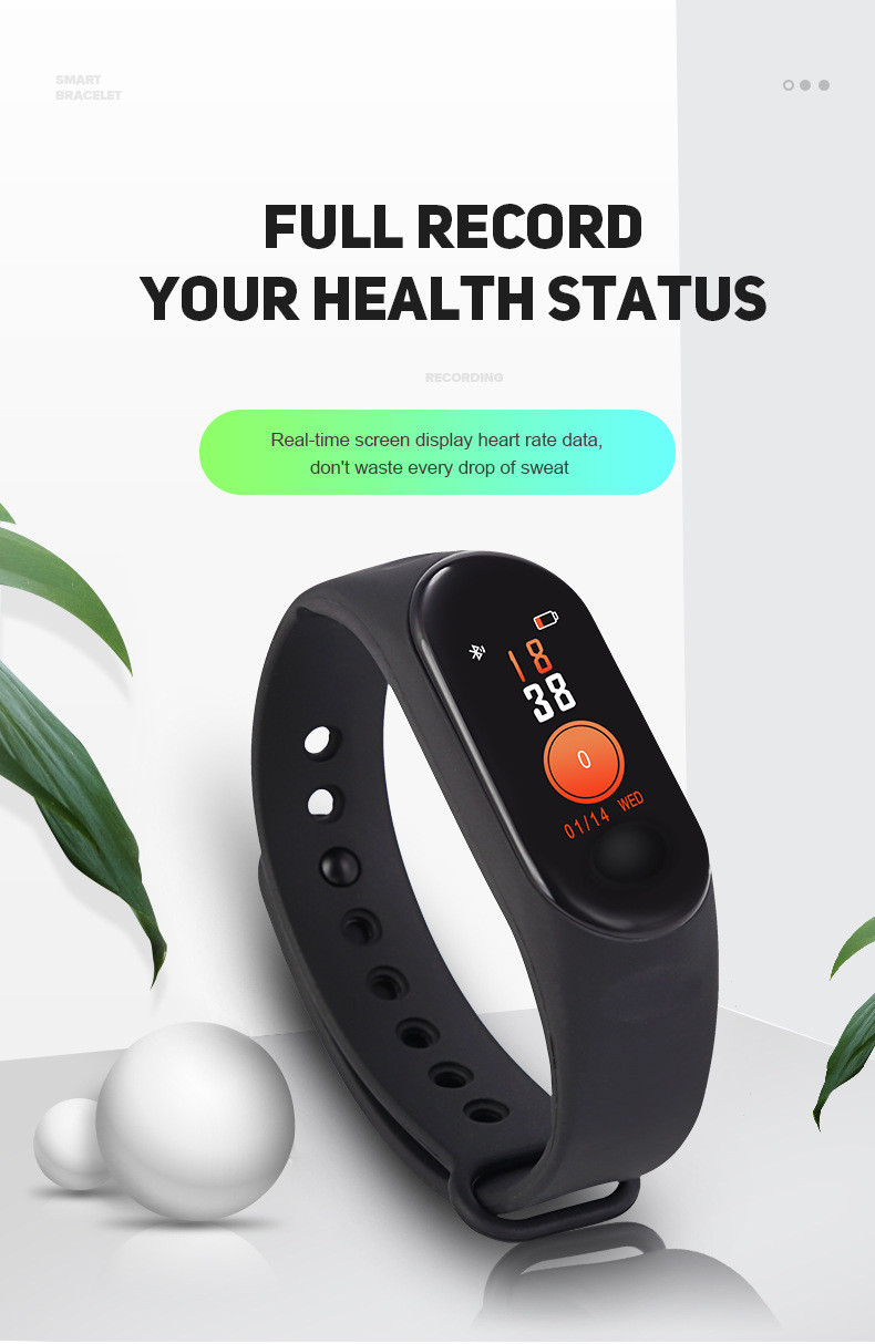 Monitor Fitness-Tracker Smart-Bracelet Blood-Pressure-Heart-Rate Mi-Band-3 Waterproof