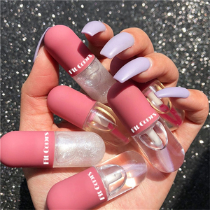 Crystal Jelly Lip Gloss Capsule Lip Plumper Oil Shiny Clear Lip Oil Moisturizing Women Lip Gloss Balm Makeup Lip Tint Cosmetics