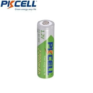 Image 2 - 5 X PKCELL סוללה AA נמוך פריקה עצמית עמיד Ni MH 1.2V 2200mAh AA נטענת סוללה 2A סוללות עבור שלט רחוק