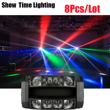 цена на Good Effect Mini disco LED Spider Moving Head Light LED Beam Stage Lighting 8*10W Spider Light Good for DJ Night club Party