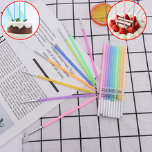 Wedding-Cake-Candles Rainbow Candle Dessert-Decoration Party-Supplies Safe Flames Birthday