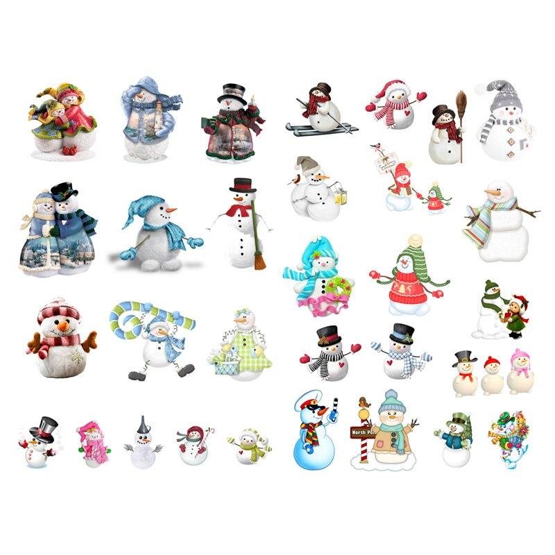 1 PCS Christmas Winter Snowman Deco Scrapbook Bullet Journal Stationery Stickers Planner Calendar Agenda School Office Supplies