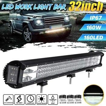 32'' 160W Car LED Bar LED Light Bar Work Light Bars Combo Spot Driving Lamp Truck Boat SUV Off Road OffRoad Tractor 4WD 4x4 ATV
