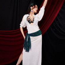 Performance Belly Dance Robe For Women Practice Lady Clothes Robe Belly Dance Dress Costume Oriental Dance Dance Clothes