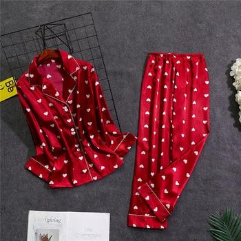 Oversize Womens Shirt Pants Pajamas Sets Sleepwear Home Wear Nightgown Suit Robe Bath Gown Spring Autumn Sleepshirts M-5XL 1