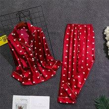 Oversize נשים חולצה מכנסיים פיג מה סטי הלבשת בית ללבוש חליפת כתונת לילה חלוק אמבט שמלת אביב סתיו Sleepshirts M 5XL