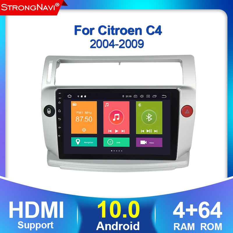 2din Car Radio Multimedia Video Player Android 10.0 For Citroen C4 C-Triomphe C-Quatre 2004 2005 2006 2007 2008 2009 4G Lte WIFI