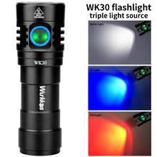 Wk30 многоцветная перезаряжаемая светодиодсветильник вспышка