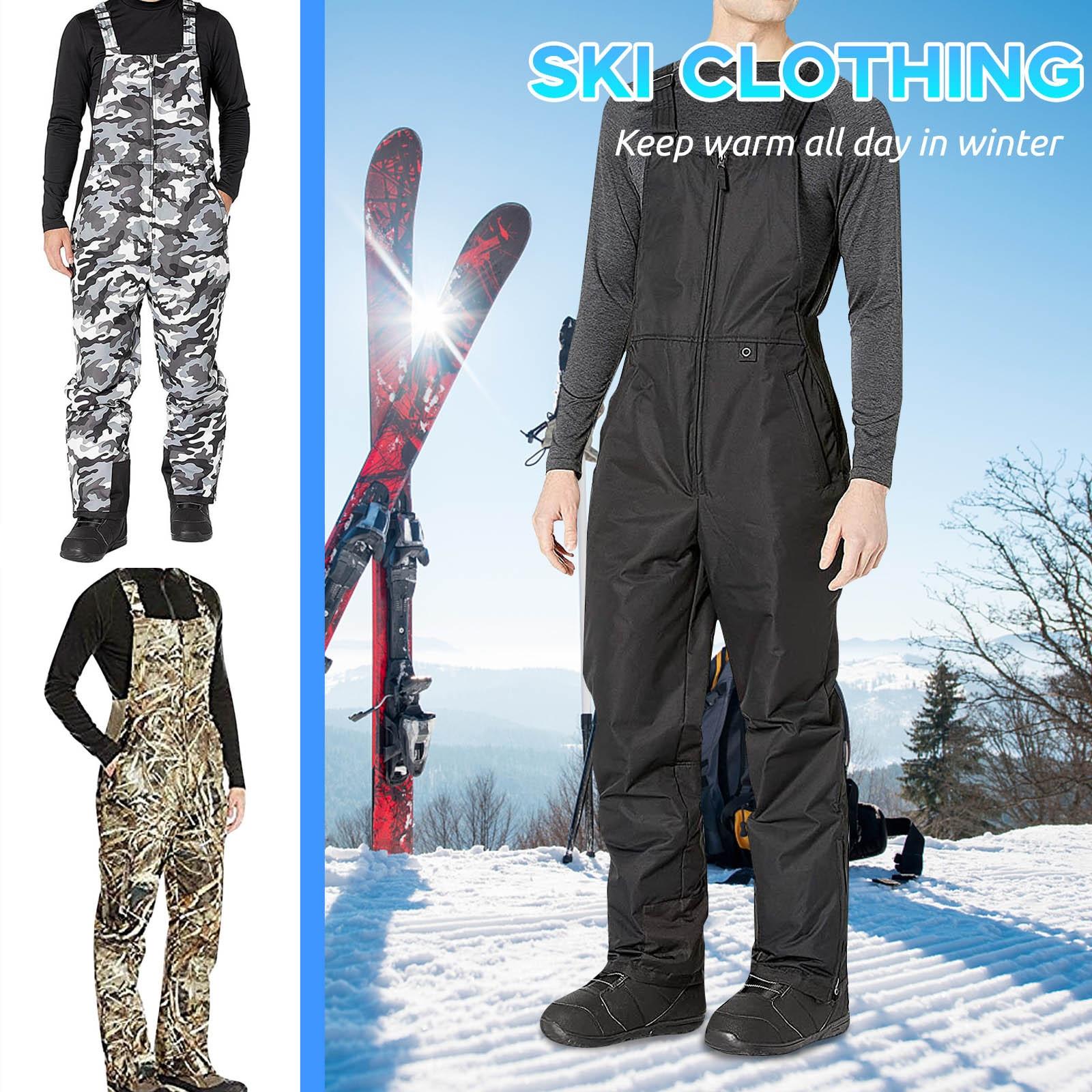 Ski Pants Women And Men Suspenders Outdoor Sports Solid Pocket Windproof Waterproof Warm Winter Snow Snowboard Trousers S-5xl