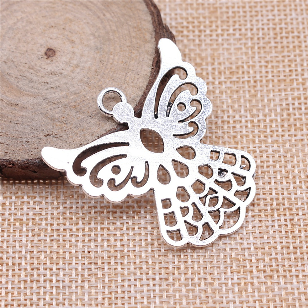 Charms for Jewelry Making Findings Handmade DIY Craft 4pcs Antique Silver Color 41x39mm Angel Guardian Angel Elf Charms Pendant