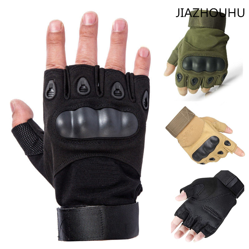 Tactical Hard Knuckle Half Finger Gloves Men Army Military Combat Hunting Airsoft Police Duty Men's Fingerless Tactical Gloves