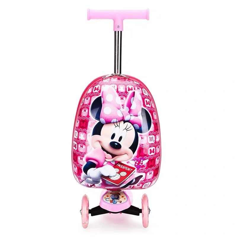 """漫画 16 """"インチ子スクータースーツケース小型ギフトかわいいキャリートロリー荷物子供のためにスーツケースホイールローリング荷物"""